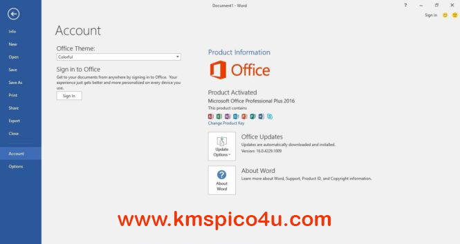 office 2016 plus change product key